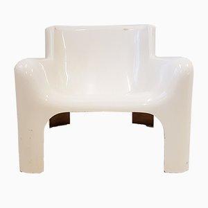 Italienischer Space Age Gaia Chair aus Glasfaser von Carlo Bartoli für Arflex, 1960er