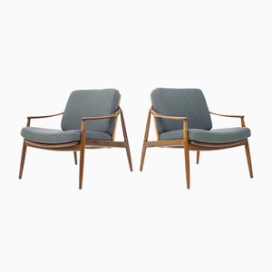 Lounge Chairs by Hartmut Lohmeyer for Wilkhahn, 1950s, Set of 2