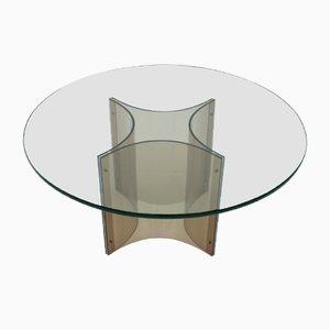 Table Basse en Lucite et Verre, 1960s