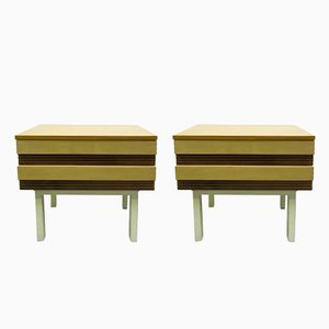 Vintage Dressers with Drawers, Set of 2
