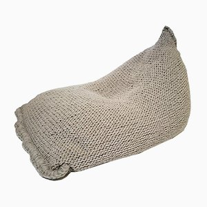 Puf de lana tejida de SanFates