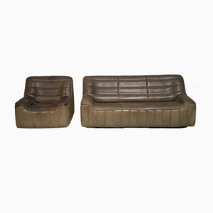 Vintage DS 84 Sofa and Armchair from de Sede, 1970s