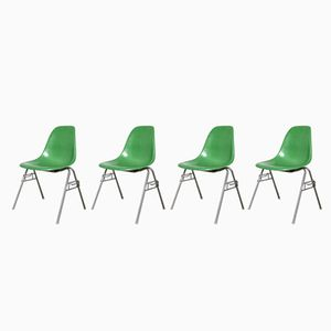 Mid-Century DSS Chair by Charles & Ray Eames for Herman Miller, Set of 4