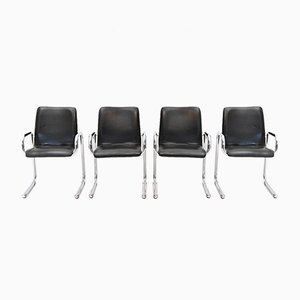 Italian Chromed Chairs, 1960s, Set of 4
