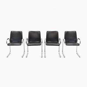 Verchromte italienische Stühle, 1960er, 4er Set
