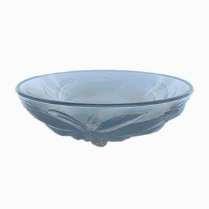 Art Deco Opalescent Pressed Glass Centre Bowl, 1920s