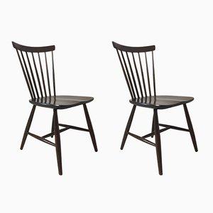 Skandinavische Stühle von Sven Erik Fryklund für Hagafors, 2er Set