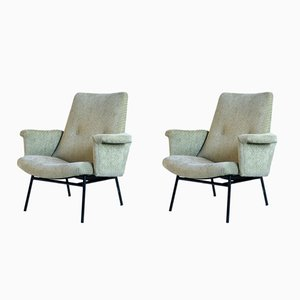 SK 660 Armchairs by Pierre Guariche for Steiner, 1950s, Set of 2