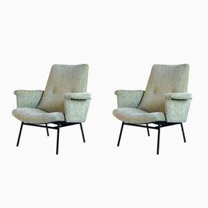 SK 660 Sessel von Pierre Guariche für Steiner, 1950er, 2er Set