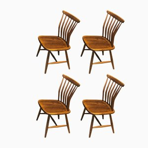 Vintage Chairs by Gunnar Eklöf for Akerblom, Set of 4
