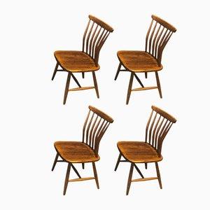 Vintage Chairs by Gunnar Eklöf for Akerblom, Set of 4