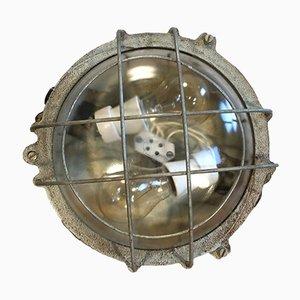 Vintage Industrial Grey Cast Iron Wall Lamp from Elektrosvit, 1970s