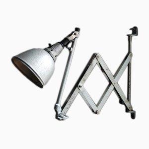 Lámpara acordeón modelo 110 vintage en gris martillado de Midgard