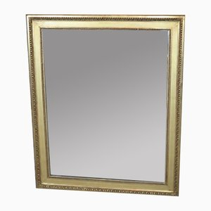 19th-Century Louis XVI Style Mirror in Wood and Golden Stuck