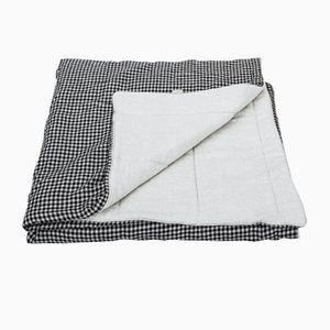 Checked Linen Blanket by Once Milano