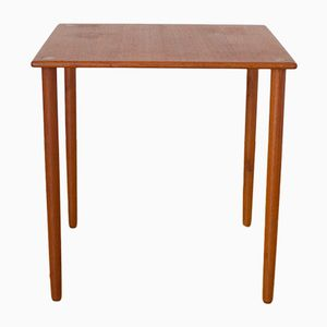 Danish 8739 Teak Side Table with Brass Inserts by Georg Petersens, 1960s