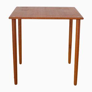 Table d'Appoint 8739 en Teck à Finitions en Laiton par Georg Petersens, 1960s