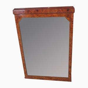 Espejo Art Déco de madera nudosa de olmo