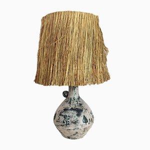 Vintage Steingut-Tischlampe aus Keramik von Jacques Blin