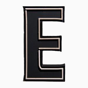 Großes Vintage Buchstabe E Werbeschild mit Neonbeleuchtung