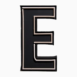 Large Vintage Advertising Letter E with Neon Lighting
