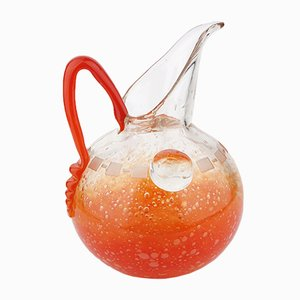 Art Deco Bubbled Glass Pitcher by Charles Schneider, 1928