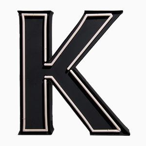 Large Vintage Advertising Letter K with Neon Lighting