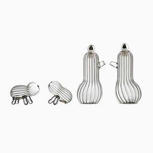 Tipì e Tidò & Lilì e Lulù Sets for Condiments in Blown Glass by Matteo Cibic for Paola C.
