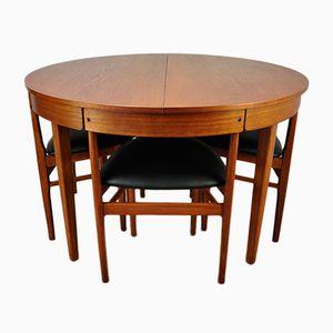 Conjunto de mesa y sillas de comedor vintage de Mcintosh, años 60