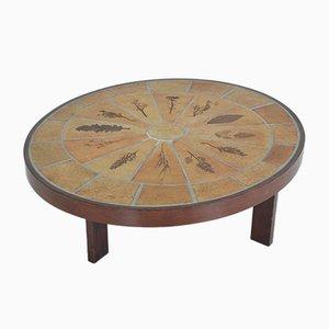 Table Basse Ovale par Roger Capron, 1960s