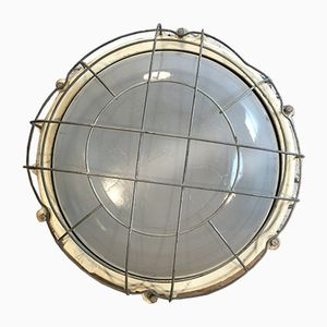 Large Industrial Cast Iron Wall or Ceiling Lamp from Elektrosvit, 1970s