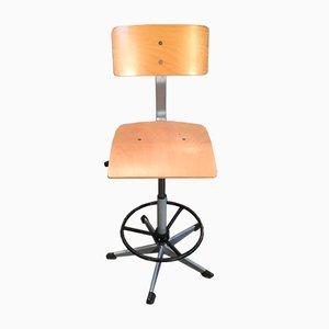 Chaise d'Ecole à Hauteur Ajustable Vintage, Danemark, 1970s