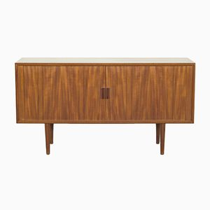Teak Sideboard with Tambour Doors by Svend Aage Larsen for Faarup Møbelfabrik, 1960s