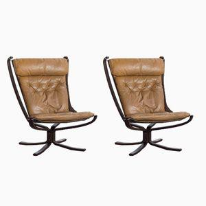 Falcon Chairs von Sigurd Resell für Vatne Møbler, 1970er, 2er Set