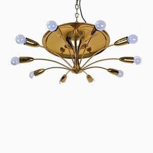 Lampada da soffitto Sputnik di Rupert Nikoll, anni '50