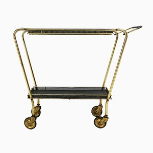 Brass and Perforated Metal Service Trolley, 1950s