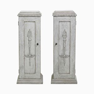 Pedestal Cabinets, 1830s, Set of 2