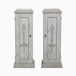 Schränke in Säulen-Optik, 1830er, 2er Set