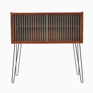 Mid-Century Danish Teak and Glass Cabinet, 1960s