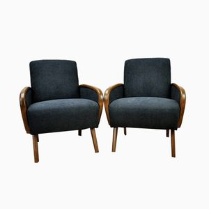Vintage German Armchairs, 1950s, Set of 2