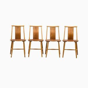 Dining Chairs by Jan Hallberg, 1950s, Set of 4