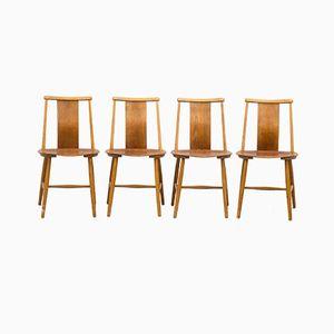 Esszimmerstühle von Jan Hallberg, 1950er, 4er Set