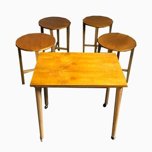 Mid-Century Danish Teak Tables by Poul Hundevad, Set of 5