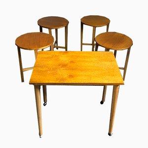 Tables Mid-Century en Teck par Poul Hundevad, Danemark, Set de 5