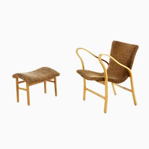 Torparen Lounge Chair and Ottoman by Gustav Axel Berg, 1940s