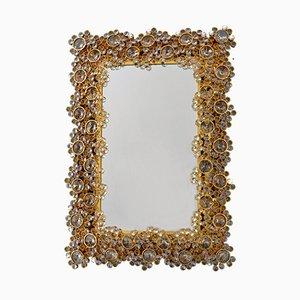Espejo dorado iluminado de Palme para Palwa, años 70
