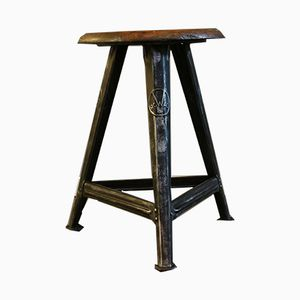 Vintage Industrial 3-Fold Tripod Stool by Rober Wagner for Rowac