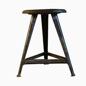 Industrieller Vintage Dreibein-Hocker von Robert Wagner für Rowac
