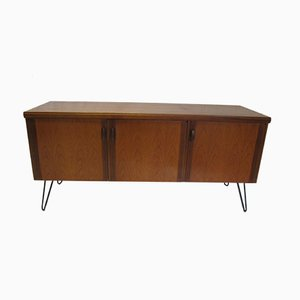 Vintage Teak Sideboard with Hairpin Feet