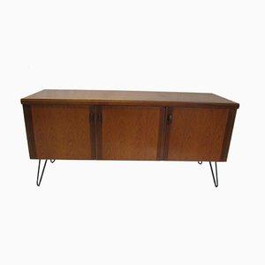 Vintage Teak Sideboard with Hairpin Feet
